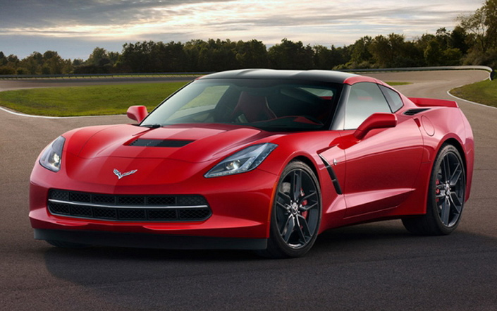 Фото новой модели авто Chevrolet Corvette Stingray 2014 года