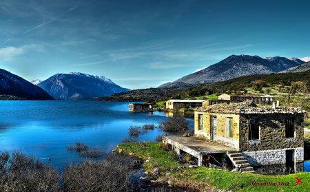 Озеро Mornos Lake, Греция