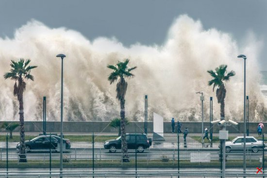 Январский шторм в Сочи