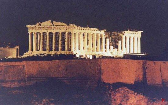 Афинский акрополь Парфенон
