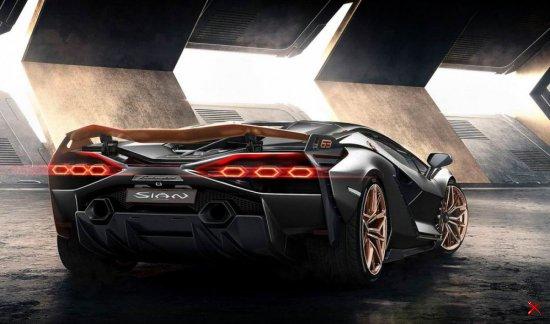 Гибридный суперкар Lamborghini Sian Родстер